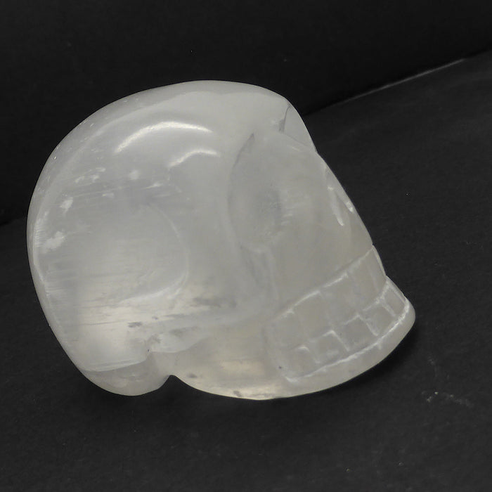 Crystal Skull | Carved Selenite Gemstone | Skulls symbolise deeper more eternal truths | Selenite is Angelic Consciousness | Crystal Heart Melbourne Australia since 1986