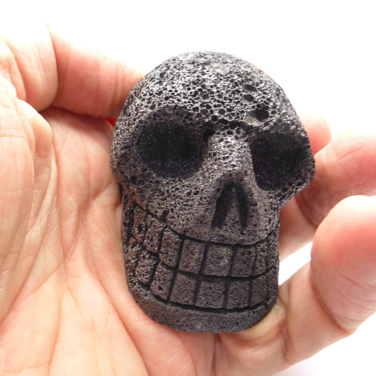 Skull Carving, Lava Stone Large