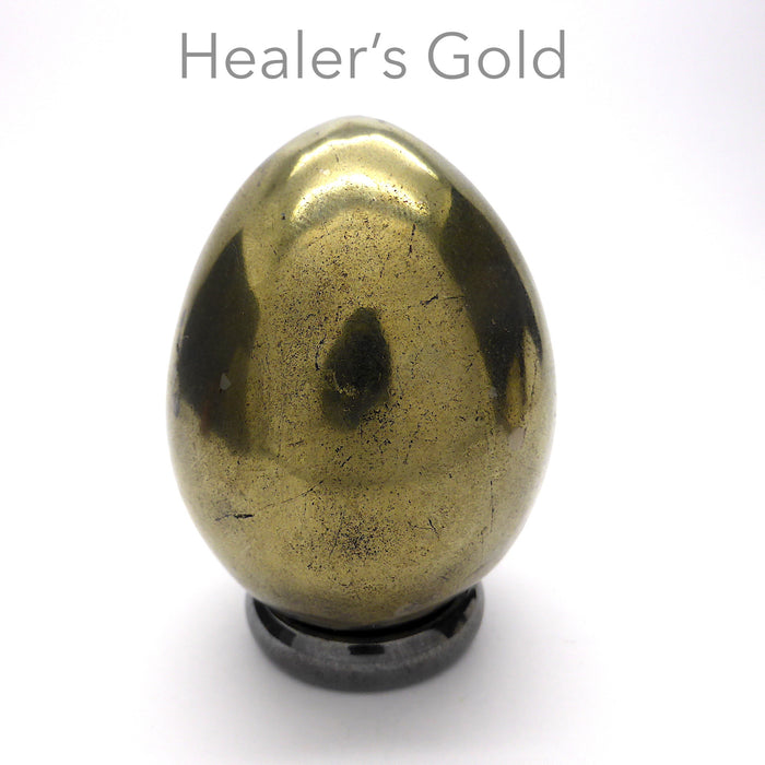 Genuine Healer's Gold Egg | Protection | Activate Physical Healing | Crystal Heart Melbourne Australia since 1986