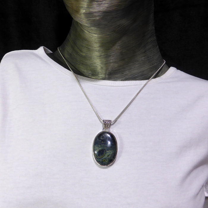 Pendant Star Galaxy Stone | Oval Cabochon | 925 Sterling Silver | AKA Kambaba Jasper | Madagascar | S.Africa | Peace & Connection | Crystal Heart Melbourne Australia since 1986