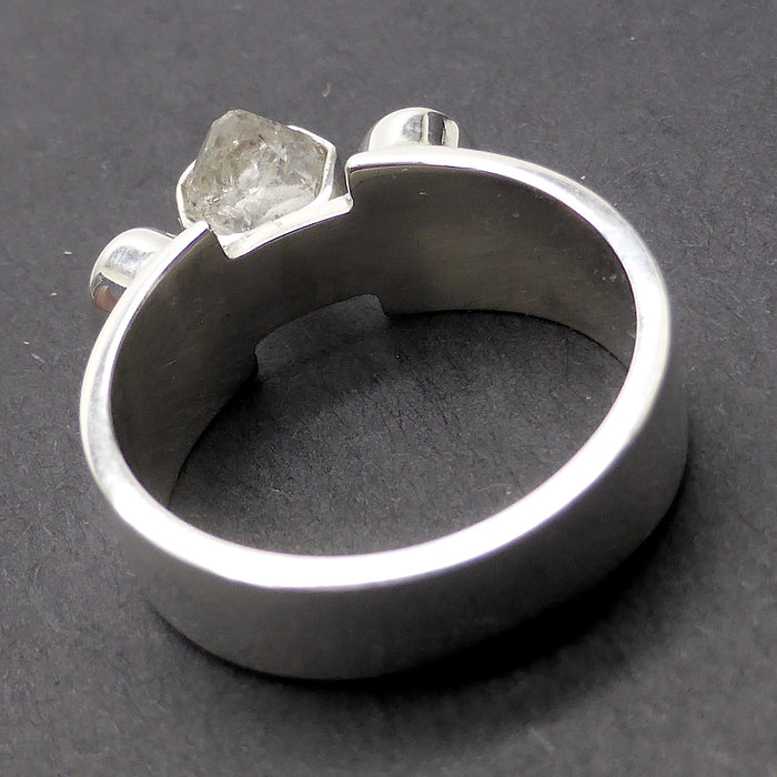 Ring With Herkimer Diamond And White Topaz 925 Sterling