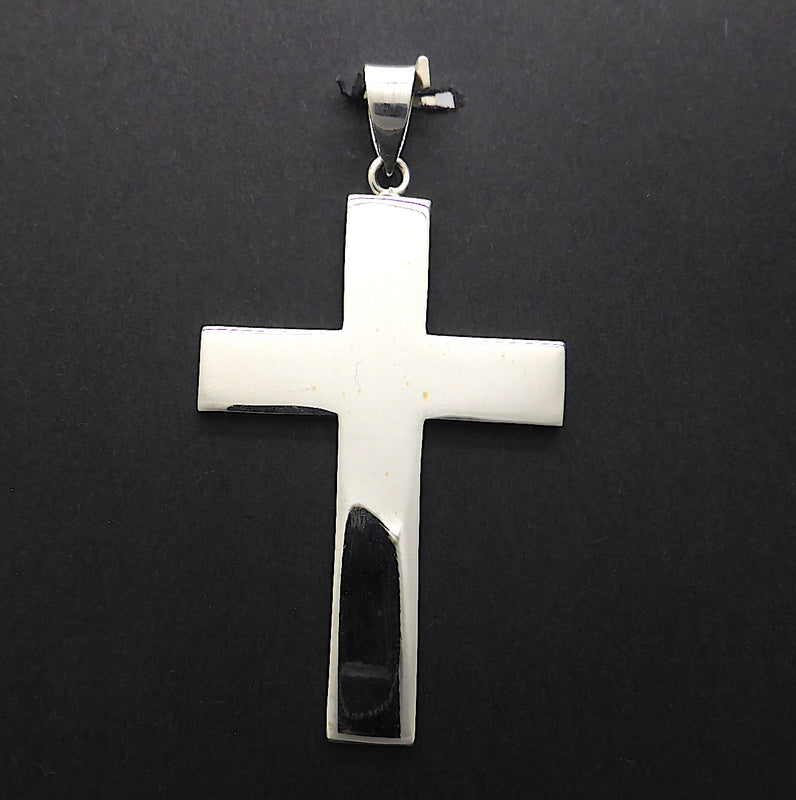 Large Cross Pendant | 925 Sterling Silver | Strong Proportions | Christian Symbol | Crystal Heart Melbourne Australia since 1986