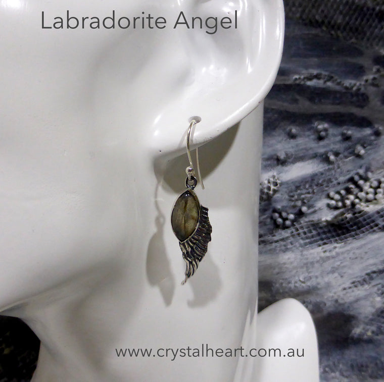 Labradorite Angel Wings Earring | 925 Silver | KS8