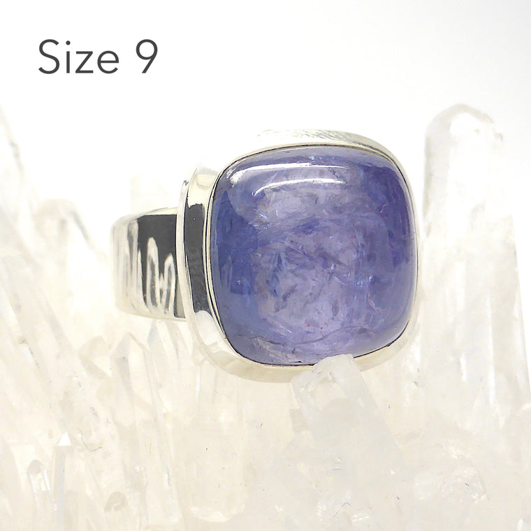 Tanzanite Ring Square Cab | 925 Silver | g8