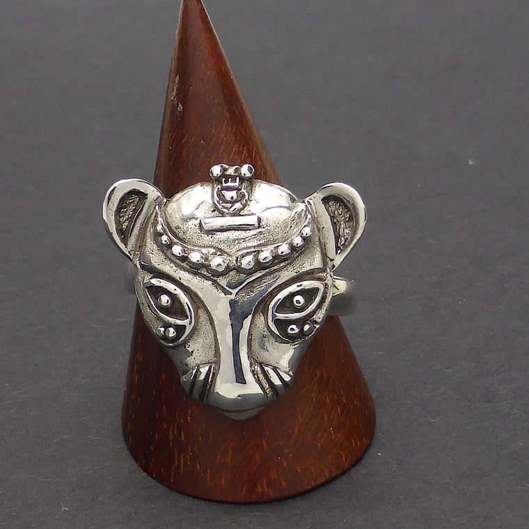 Bastet Egyptian Cat Ring, 925 Silver or Vermeil