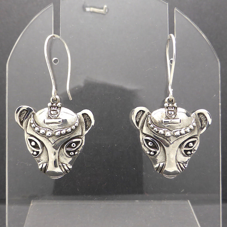 Bastet Cat Earring, Ancient Egypt, 925 Silver