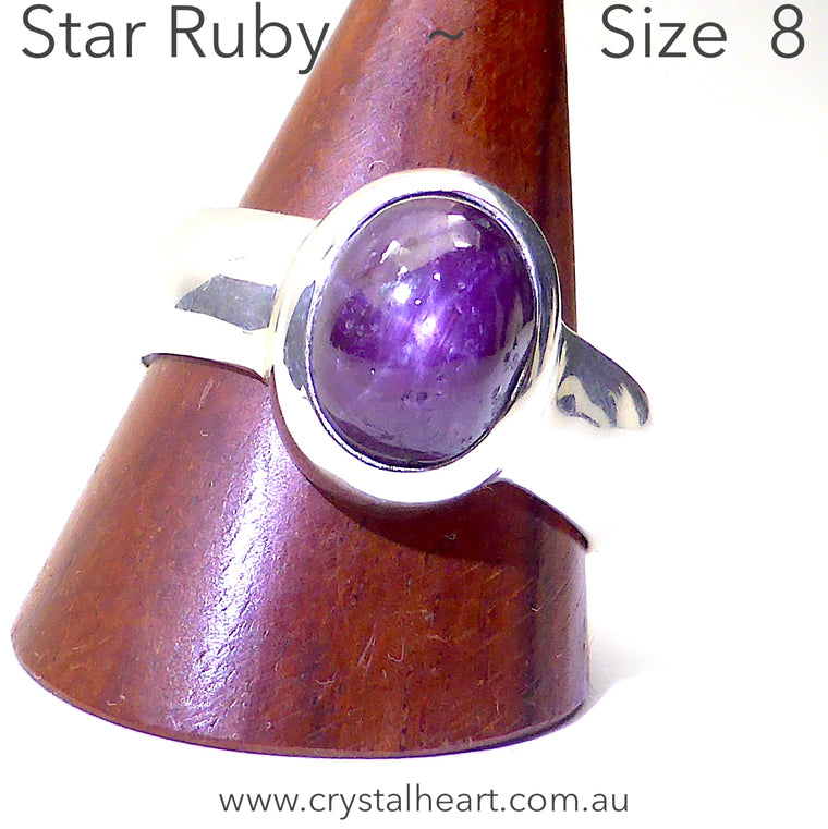 Star Ruby Ring | 925 Silver pm1