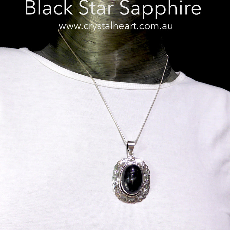 Products tagged black star crystal heart black star sapphire pendant 925 silver k3 aloadofball Choice Image