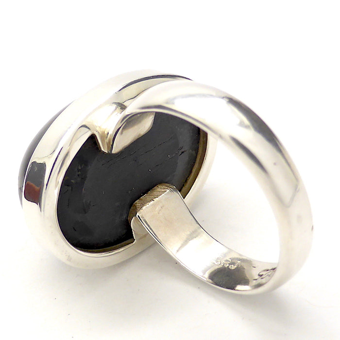 Black Star Diopside Ring | Star of India | Oval Cabochon | 925 Silver | US Size 8 |  Genuine stone | RIGHT ACTION | Mental Focus | Virgo | Crystal Heart Melbourne Australia since 1986