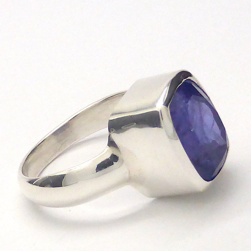 Large Genuine Tanzanite Ring | 8 Carat | Faceted Teardrop | 925 sterling Silver | Size 9 | Blue Violet Fire |  | Mt Kilimanjaro | Crystal Heart Australia since 1986