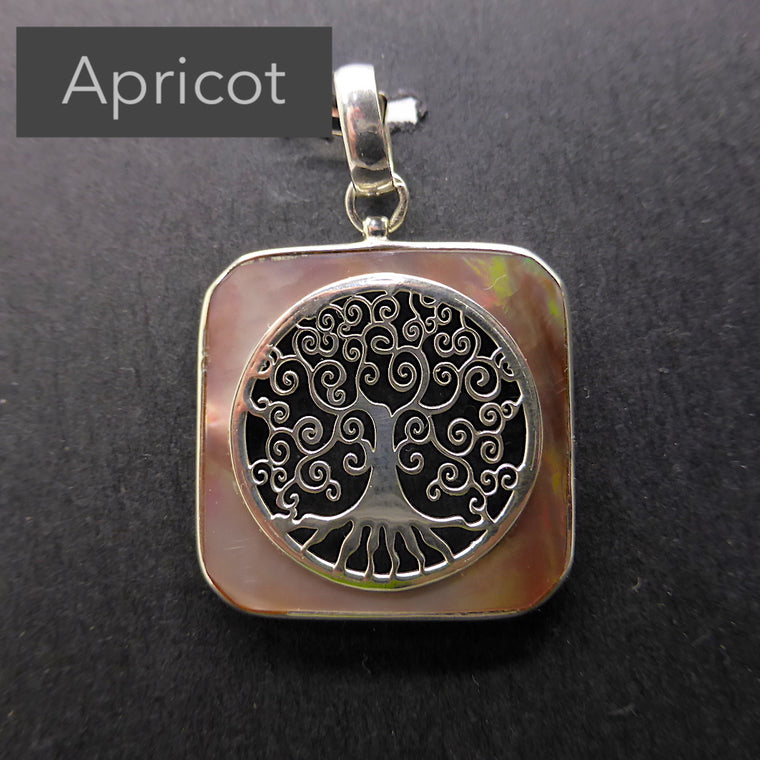 Tree Pendant, Italian, Mother of Pearl, 925 Silver f5