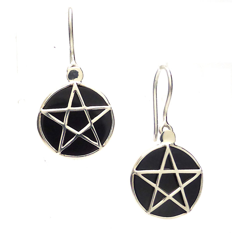 Pentacle Ring, 925 Silver on Black Onyx, kt