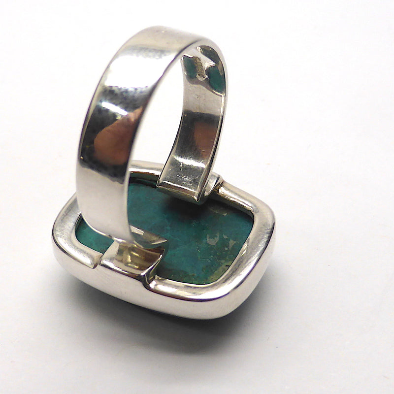 Chrysocolla Cabochon | US Size 9 | 925 Sterling Silver | reduced price | Crystal Heart Melbourne Australia since 1986