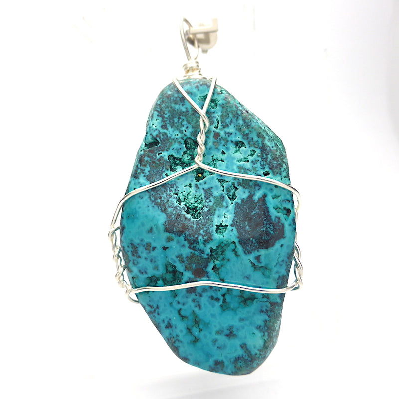 Chrysocolla Raw Nugget Pendant | Large Raw Natural | Crystal Heart Melbourne Australia since 1986