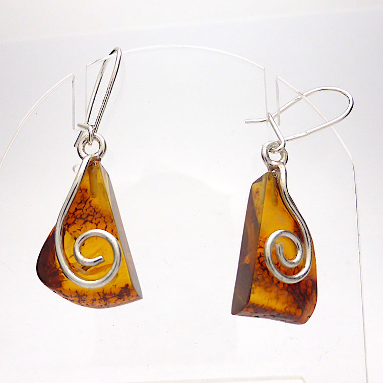 Amber Earring, Baltic, Freeform
