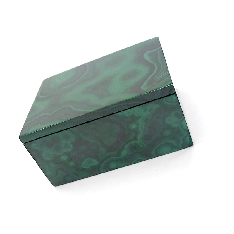 Malachite Box Hand Carved | Congo | Lovely Colour and Markings  | Crystal Heart Melbourne Australia since 1986