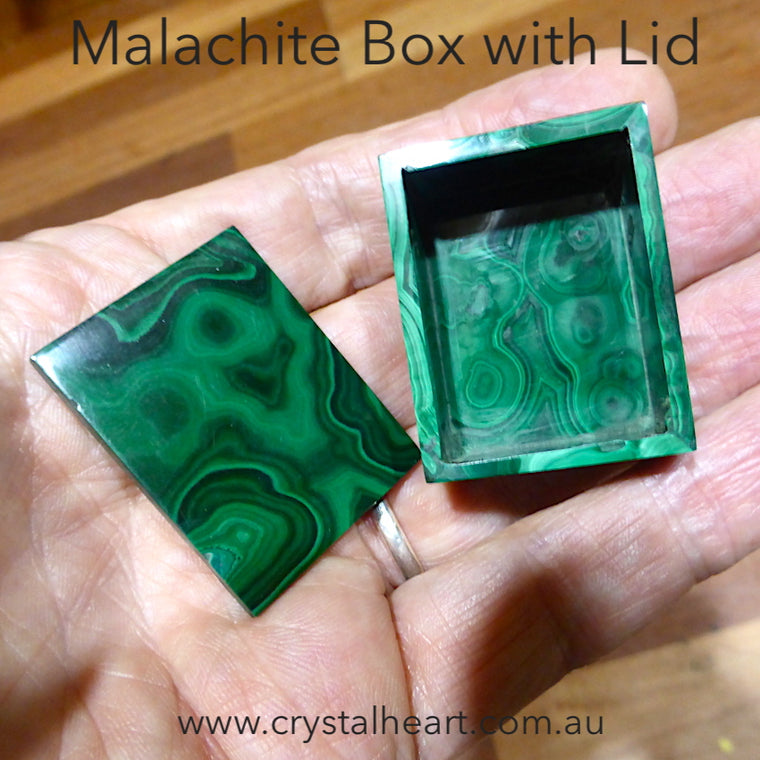 Malachite Box with Lid