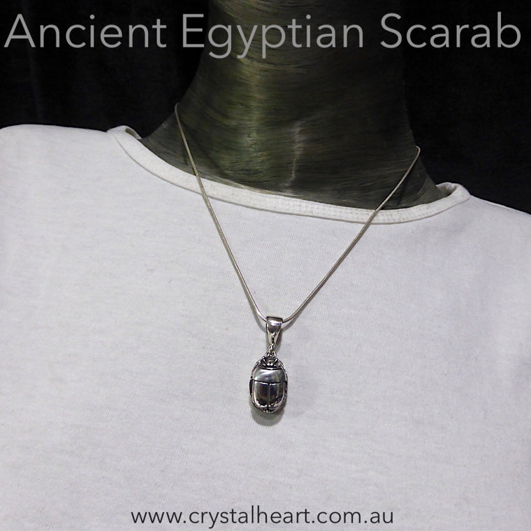 Scarab Pendant, 925 Sterling Silver Sm
