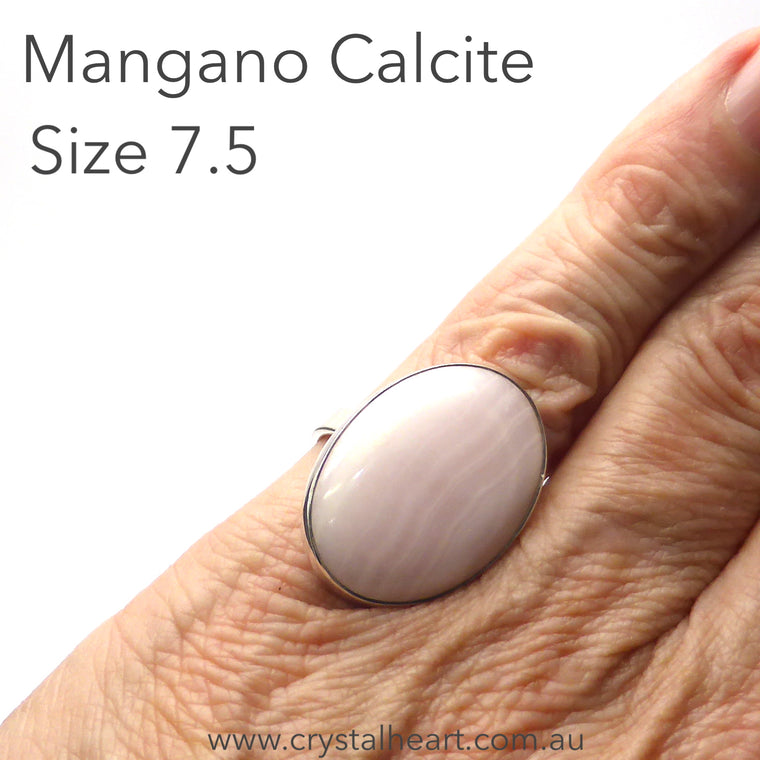 Mangano Calcite Ring, Oval, 925 Silver s3