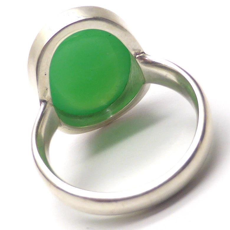 Handmade Size 7 Chrysoprase Ring and Sterling Silver
