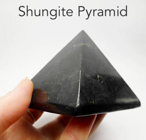 Large Shungite Pyramid | Purifying Healing Grounding | Genuine Gemstones from Crystal Heart Melbourne since 1986