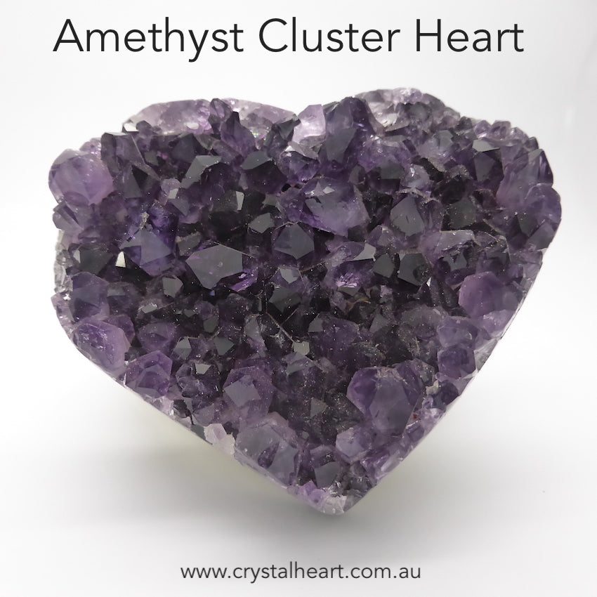 Amethyst Cluster Heart | Nice Points | Standing up specimen | Genuine Gemstones from Crystal heart Melbourne Australia since 1986
