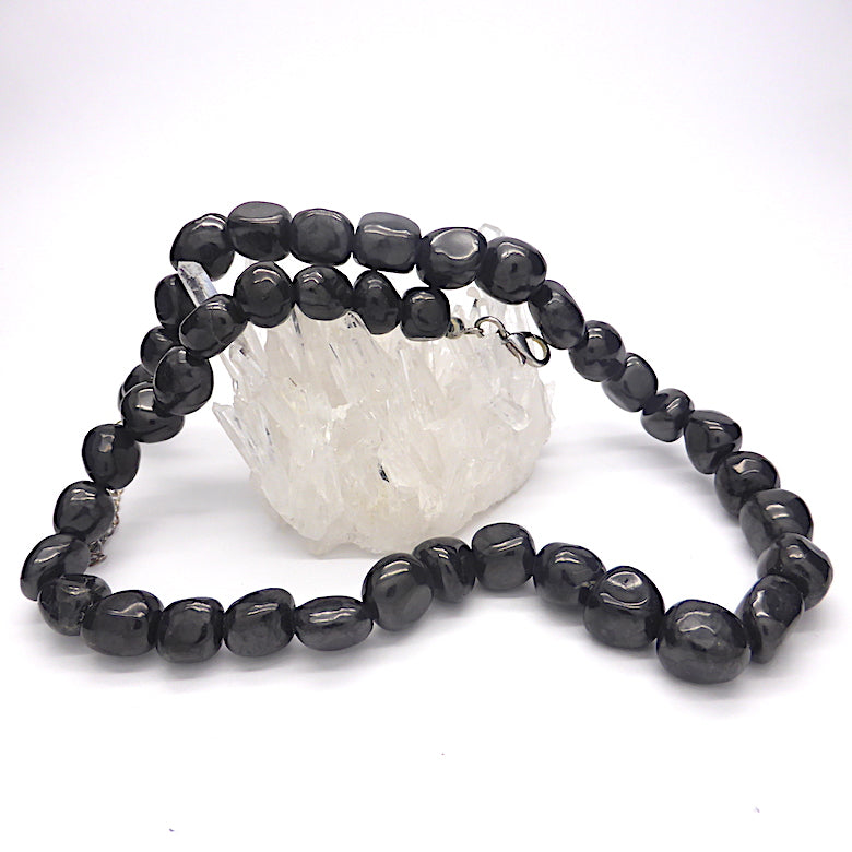 Noble Shungite Necklace | sometimes called Black Turquoise | Major Healing Stone | Genuine Gems from Crystal Heart Melbourne Australia since 1986