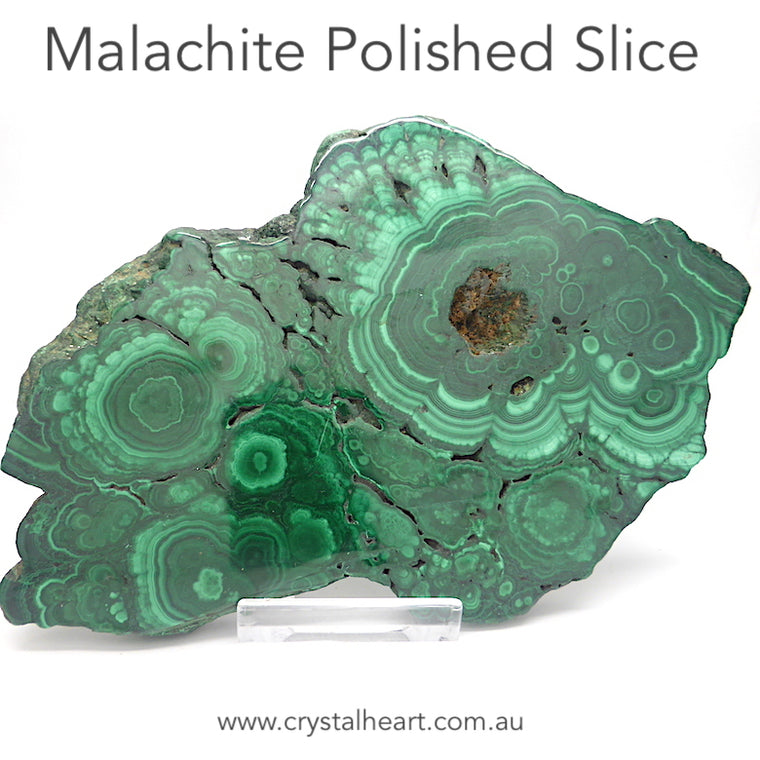 Malachite Slices, magnificent patterns