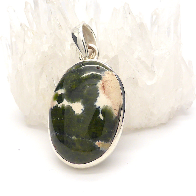 Ocean Jasper Pendant, Oval Cabochon | 925 Sterling Silver | Emotional  and Physical Healing | Stimulate Creativity | Genuine Gems from Crystal Heart Melbourne Australia since 1986