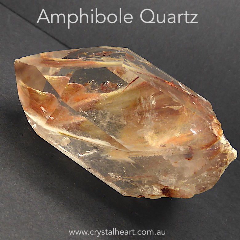 Amphibole Quartz Crystal Point