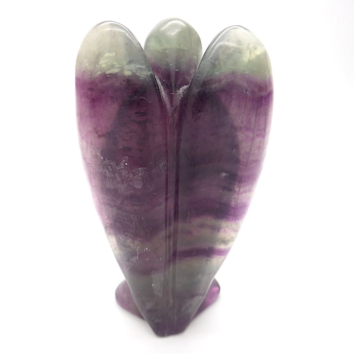 Rainbow Fluorite Angel | Hand Carved |  75 x 45 mm |  Genuine Gems from Crystal Heart Melbourne Australia since 1986
