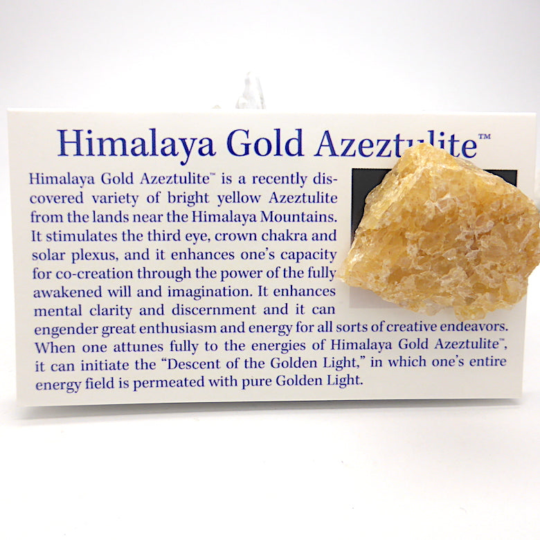 Golden Himalaya Azeztulite | Robert Simmons | Master Shamanite | Genuine Gems from Crystal Heart Melbourne Australia since 1986