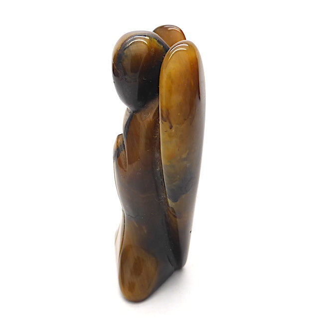 Tiger Eye Angel Statue | Hand Carved | Abstract Style | Genuine Gems from Crystal Heart Melbourne Australia since 1986