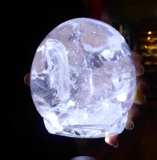 Crystal Skull | Large Hand Carved Beauty in Clear Quartz | Mitchell Hedges | Doorway to deep spiritual meanings | Genuine Gems from Crystal Heart Melbourne Australia since 1986