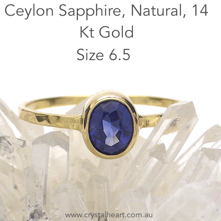 Sapphire Ring, Natural Blue Oval, 14kt Gold, pb