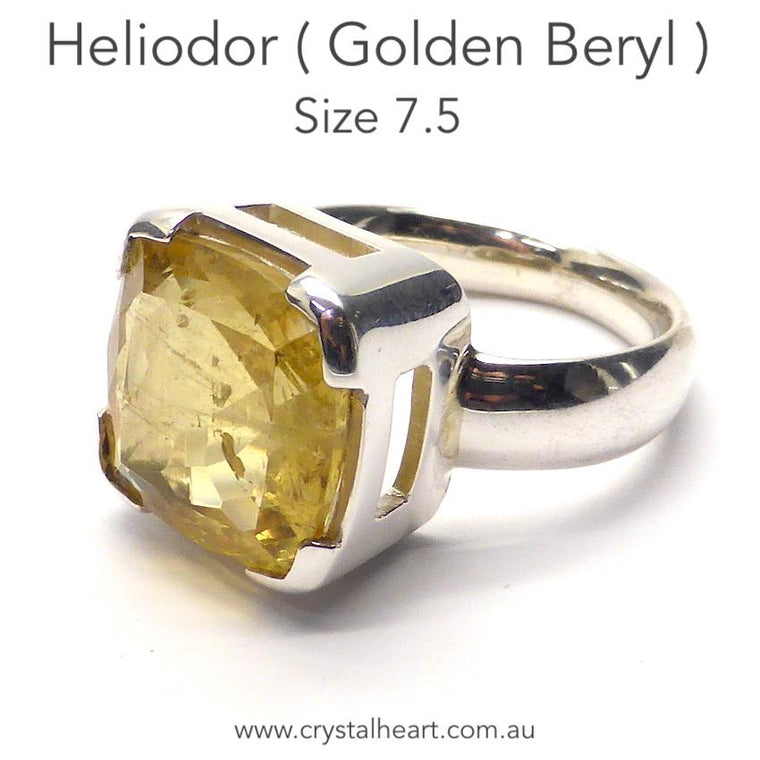 Heliodor Golden Beryl Ring, 925 Silver, p6