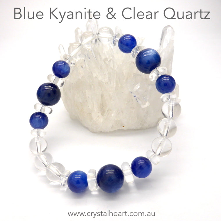 Blue Kyanite & Clear Quartz Bracelet