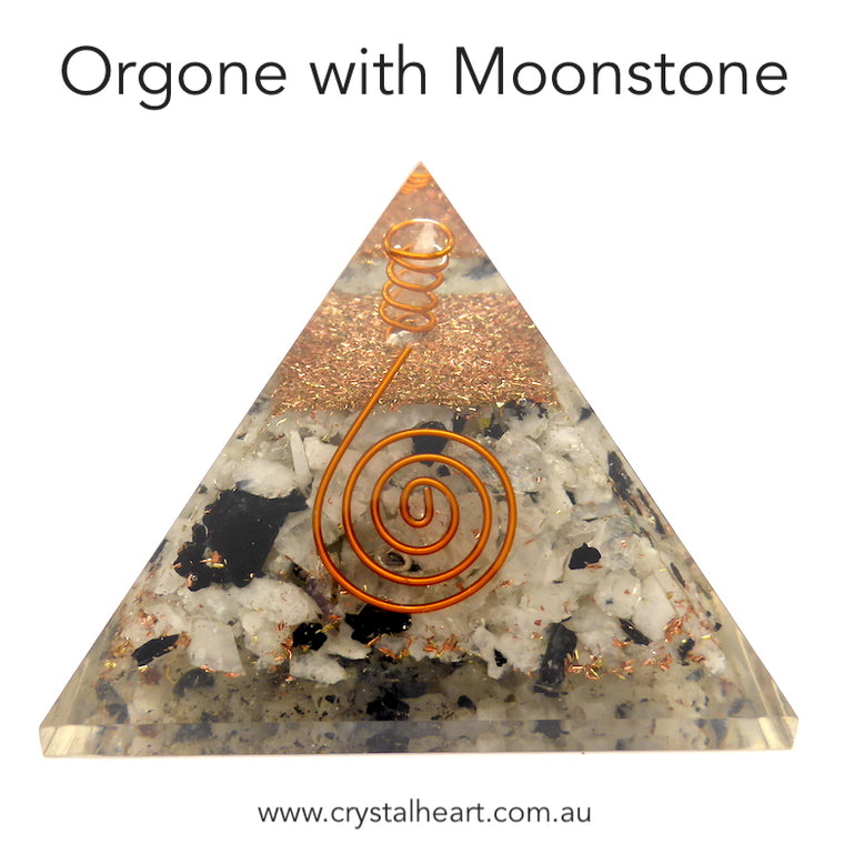 Orgone Pyramid with Moonstone