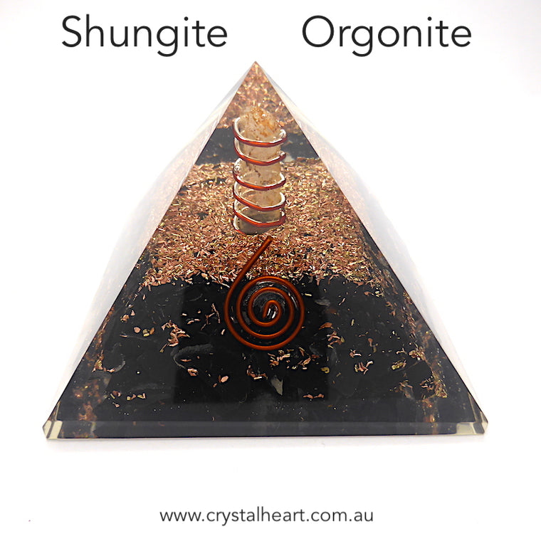 Orgone Pyramid with Shungite