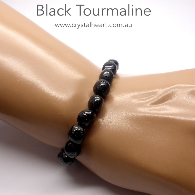 Black Tourmaline Bracelet, Stretch