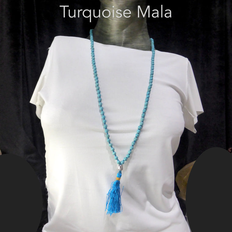 Mala Necklace with Turquoise Beads