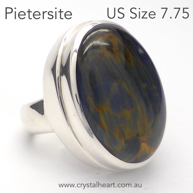 Pietersite Ring, Cabocchon Oval, 925 Silver p1