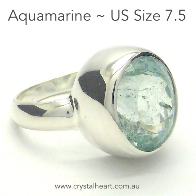 Aquamarine Ring, Faceted Oval, 925 Silver, p2