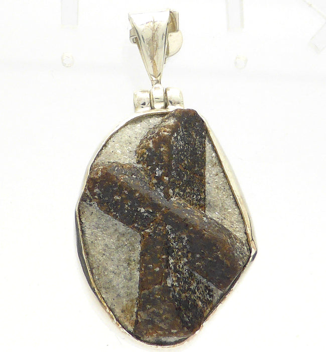 Fairy cross staurolite pendant silver australian supplier