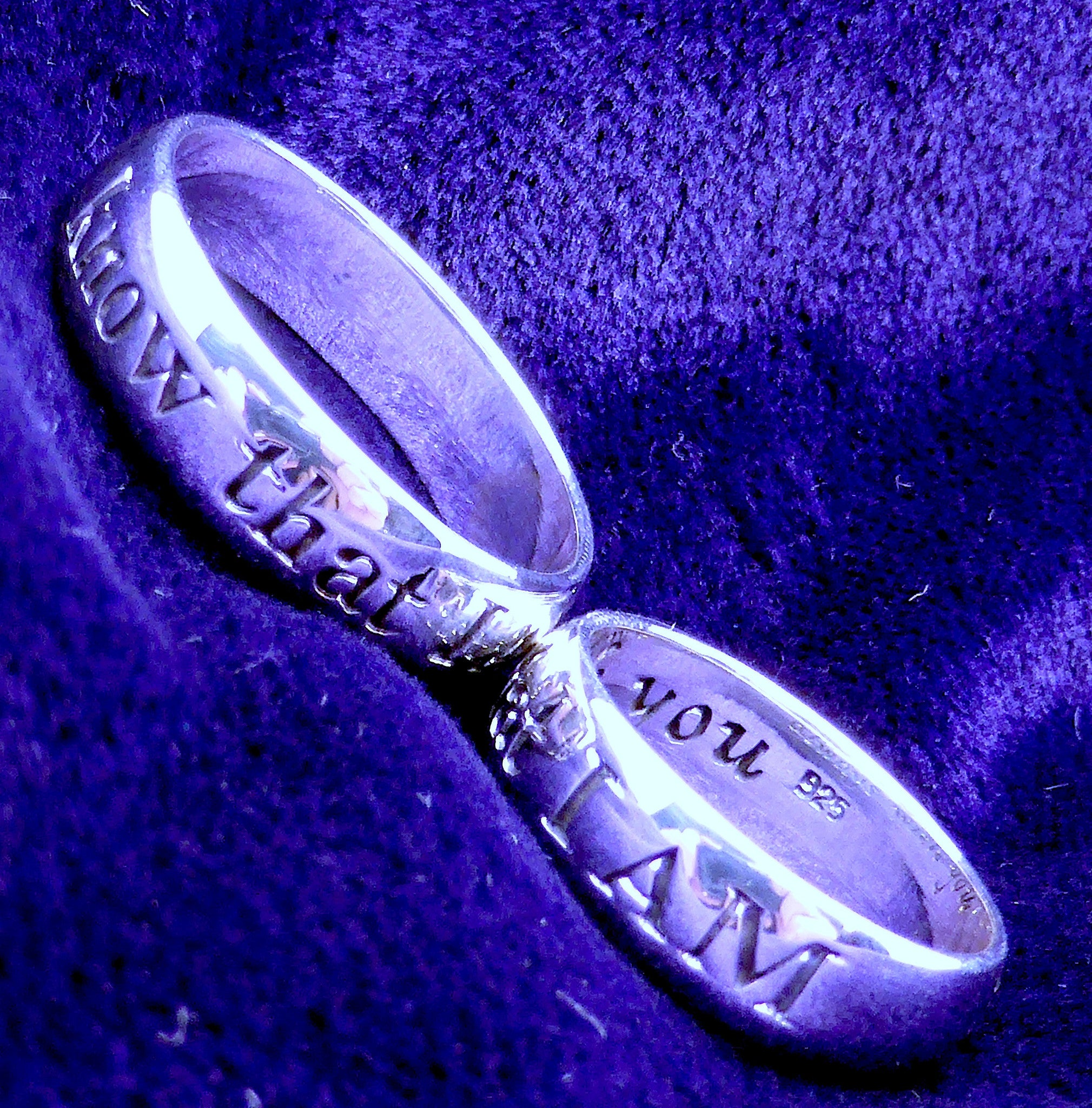 925 Sterling Silver Ring | Imagine | Know that I am | always with you | Spiritual Affirmation Partner Ring | Australian Supplier | Melbourne Australia