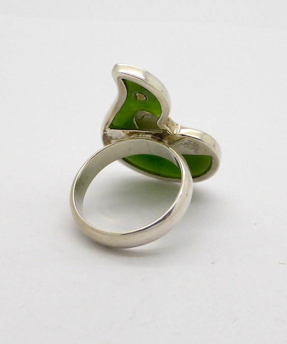 Jade Ring, New Zealand Nephrite, 925 Silver kt