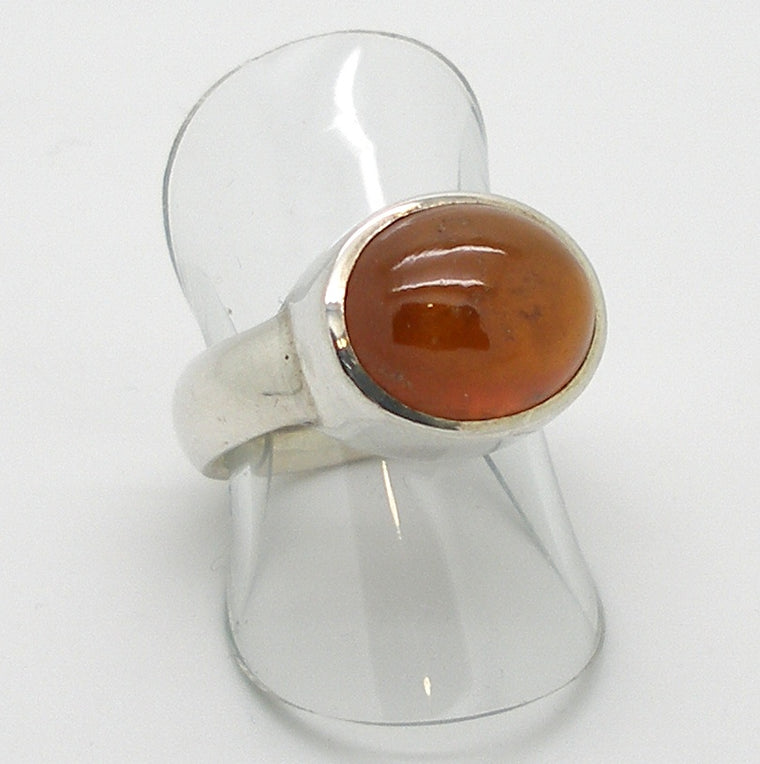 Hessonite Garnet Ring, 925 silver,  pb5
