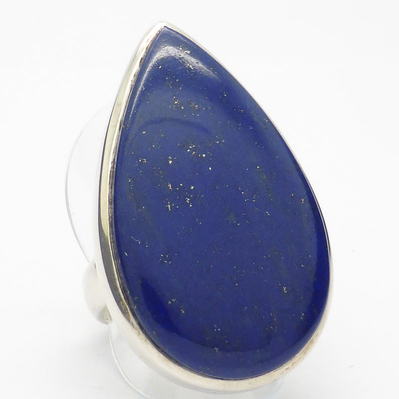 Lovely Lapis Adjustable Ring. Good colour golden flecks of Pyrites. Well set in strong stirling silver. Australian Supplier