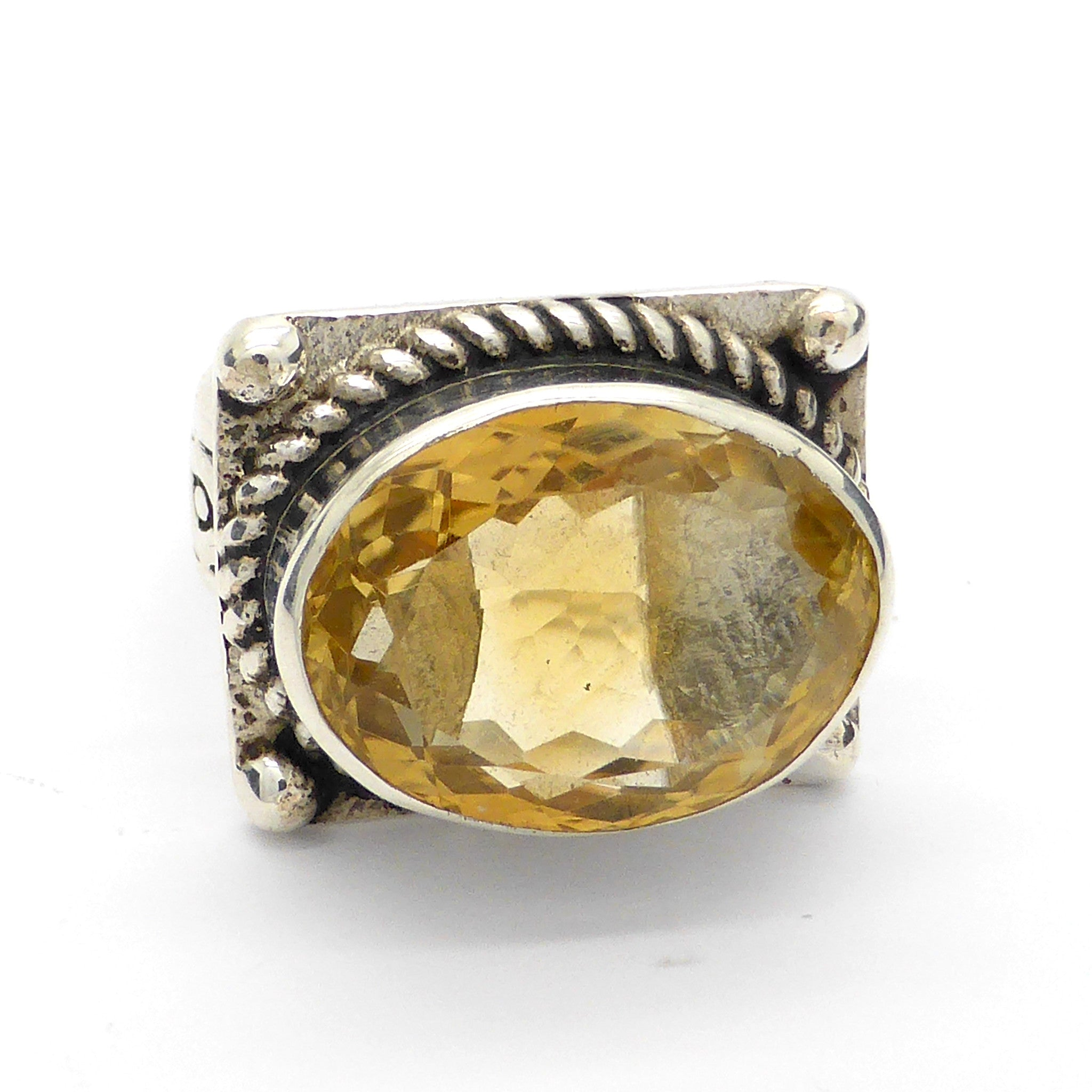 CITRINE CELTIC FACETED RING AUSTRALIA