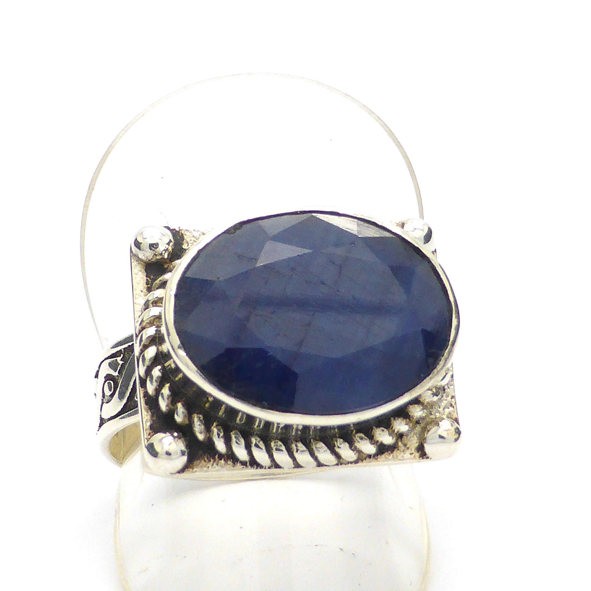 SAPPHIRE CELTIC FACETED RING AUSTRALIA